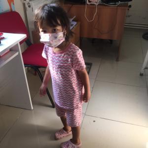 三女、4歳の予防接種