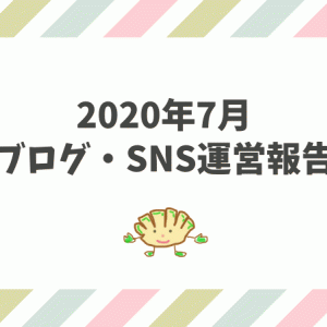 2020年7月のブログ・SNS運営報告【ブログ初心者】