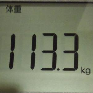 113kg台をうーろうろしてますが114kg台にならないだけマシですなあ