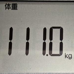 誤差かもしれないけど111kgきったよおおおおおおおおおおおおおお