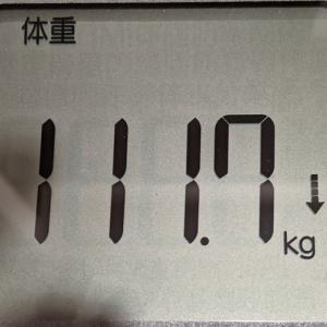 もうちょっとで110kg台に戻れるんじゃないかと淡い期待をもつ