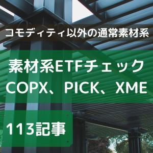 【素材系のETF】XME、PICK、COPXをチェック