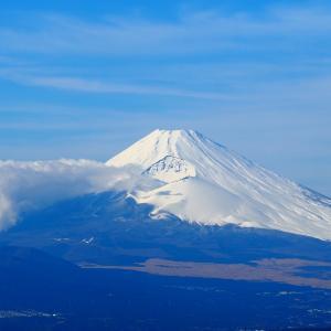今季初真っ白な富士山
