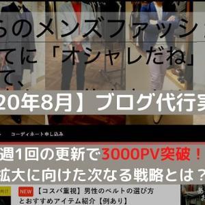 【2020年8月】ファッションブログ代行実践記【半年で3000PV突破!】