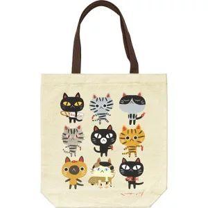 猫柄のトートバッグ (1650円)