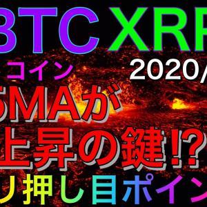 【仮想通貨BTC・XRP】ビットコイン25MAが上昇の鍵⁉︎ズバリ押し目ポイント‼︎リップル→ベアフラッグ形成中‼︎僕的チャート分析。