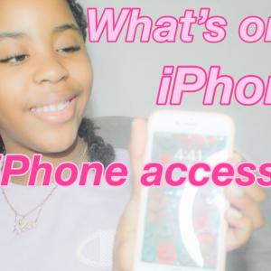 WHATS ON MY IPHONE/MY IPHONE ACCESSORIES 🤍📱.