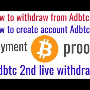 How to create Adbtc.top account  2nd withdraw    new 2021 earning site    payment proof  