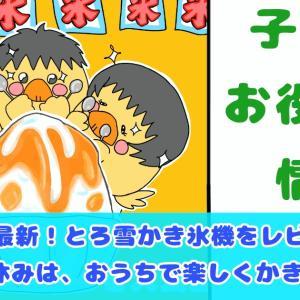 【2020最新とろ雪かき氷レビュー!!】今年の夏休みは、おうちでかき氷!