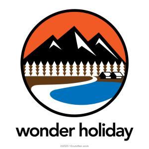 wonder holidayというテーマでイラストやロゴマークなどの創作をはじめました。