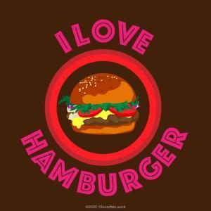 好物のハンバーガーを注文する友だち