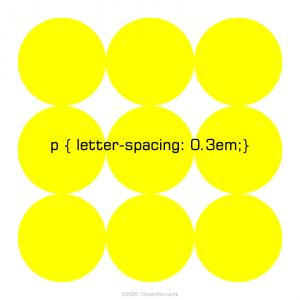 letter-spacing プロパティ