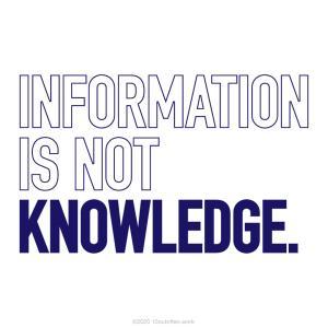 情報は知識にあらず