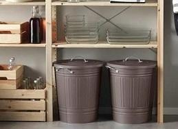 イケア クノッド(KNODD) ふた付きゴミ箱(40L)
