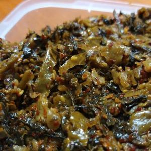 九州 辛子高菜で白飯がとまらない