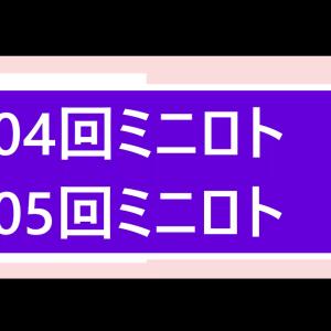 第1104回ミニロト結果第1105回ミニロト予想    当選実績掲載