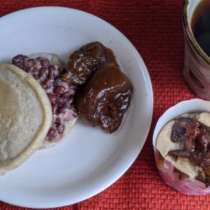 発酵あんこのパンケーキとカボチャサラダ常備すると腸活にもなる
