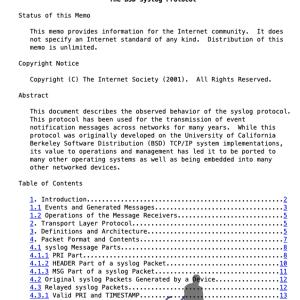 RFC3164 / RFC5424ベース:Syslogのまとめ