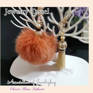 《NEW》『Jewelry Tassel』存在感のあるふわふわファーのタッセル♪