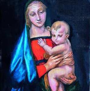聖母子と菩薩様