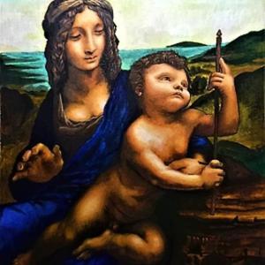 レオナルド・ダ・ヴィンチの「糸巻きの聖母」模写完成。