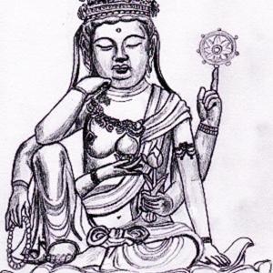 やはり、仏様を描くのは難しい・・・