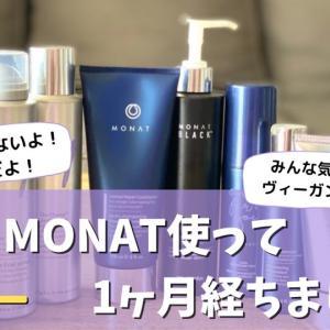 【正直レビュー】MONAT製品を使い始めて1か月経ちました【みんな気になる?】