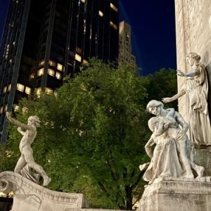 Beautiful monument at Central Park entrance