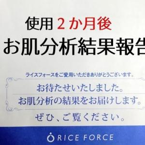 RICE FORCE(ライスフォース)使用2か月後のお肌分析結果報告