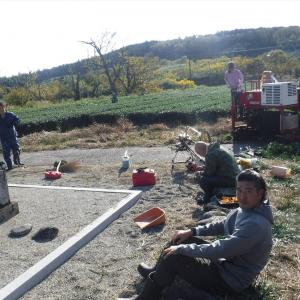 茅原茶園整備 原人の土壌調査