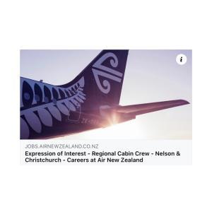 【募集要項】Air NZ リージョナルCA採用開始