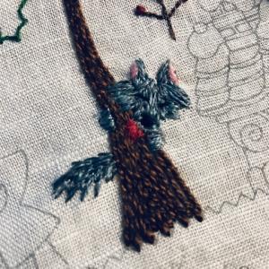 かわいい刺繍・47・「オオカミ」