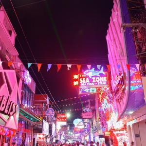 「パタヤ ウォーキング ストリート(Walking Street)」~パタヤ歓楽街の夜と昼の様子、復活はいつになるのか⁉