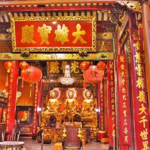 「ワット マンコン カマラワート(龍蓮寺)Wat Mangkon Kamalawat」~バンコク ヤワラートにある古い華僑寺院!!