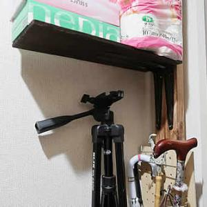 ラブリコ2 4 アジャスターで玄関デッドスペースにDIYで棚作りました。