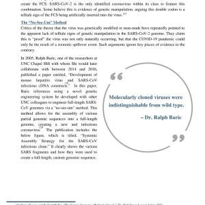 新型コロナウイルスは、中国の武漢ウイルス研究所から誤って流出した その3