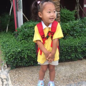 祝!香港の幼稚園に初登校!