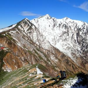 北アルプス 爺ヶ岳中峰 プレ雪山テント泊② 2020.11.21-22