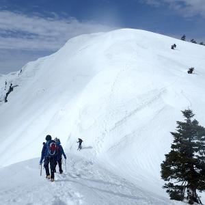 白山 野谷荘司山から三方岩岳 2021.03.20