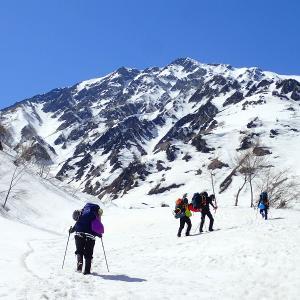 北アルプス 白馬岳主稜 ① 2021.04.10-11