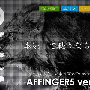 ブログ初心者がAFFINGER 5 を購入してみた結果【検索順位アップ】