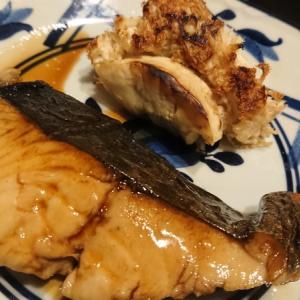 焼き魚より簡単な白身魚の煮付けに焼き山伏茸添え