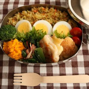 【お弁当】(YouTube更新)チーズ好きのチーズ肉巻き&カレーピラフ弁当~obento