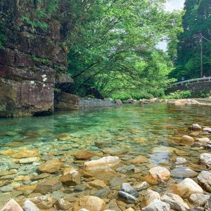 【岐阜】中津川市の夕森公園で川遊び
