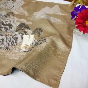 古布は織の額裏からのインテリアマット