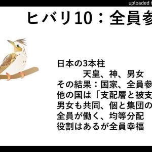 ヒバリ10:全員参加の日本、支配層の他国