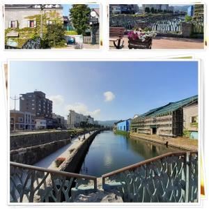 小樽運河から堺町通りへと