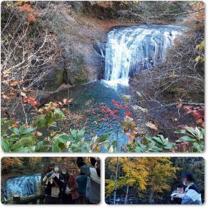 恵庭渓谷の紅葉・凄い人込み♪