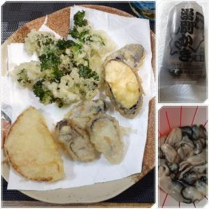 牡蠣の天ぷら♪