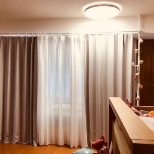 部屋の間仕切りにカーテン